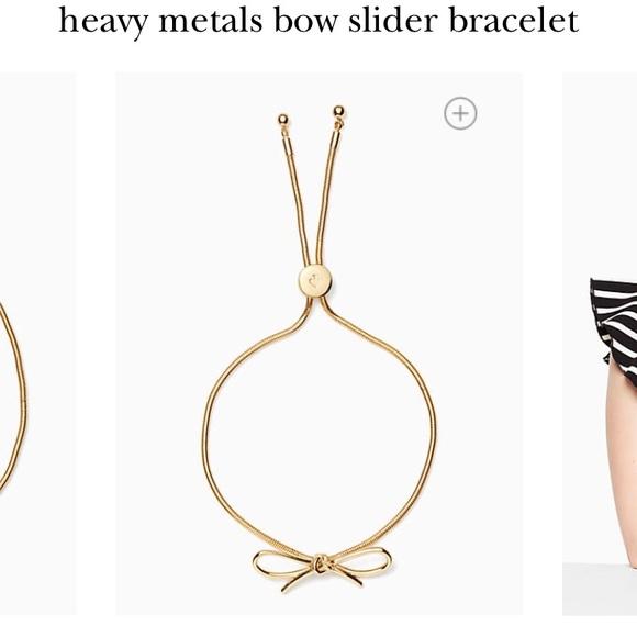 79dffb303214f kate spade Jewelry - Kate Spade Gold Bow Slider Bracelet